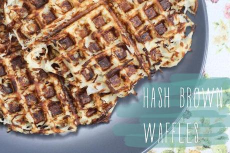 on hash brown waffles...