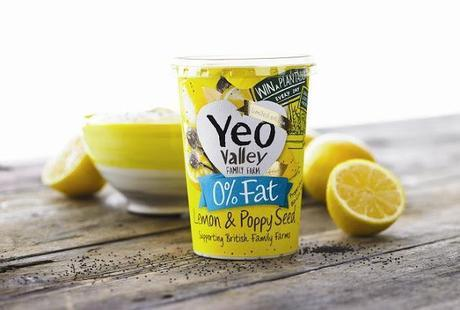 Yeo Valley Lemon and Poppy Seed 0% Fat Yogurt