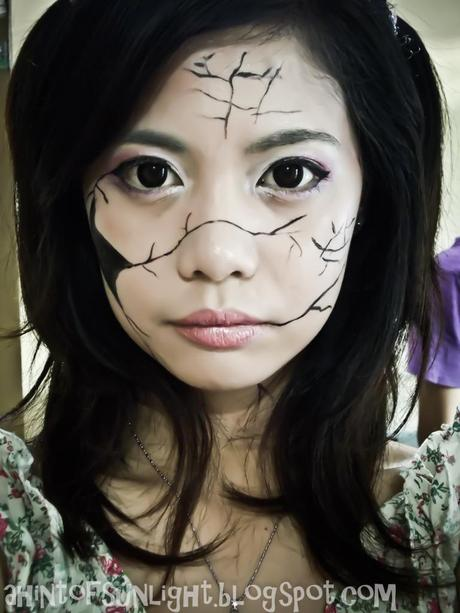 Halloween Make-up Experiments: Broken Doll and Badly-burnt ...