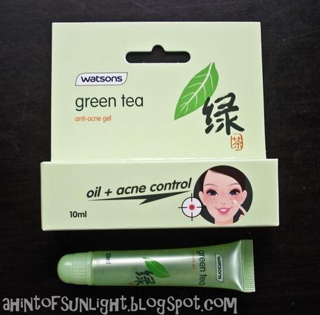 Watsons Green Tea Anti Acne Gel Review