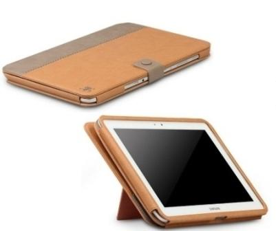 Zenus Masstige E-Note Diary leather case for Samsung Galaxy Note 10.1 - Beige / Brown