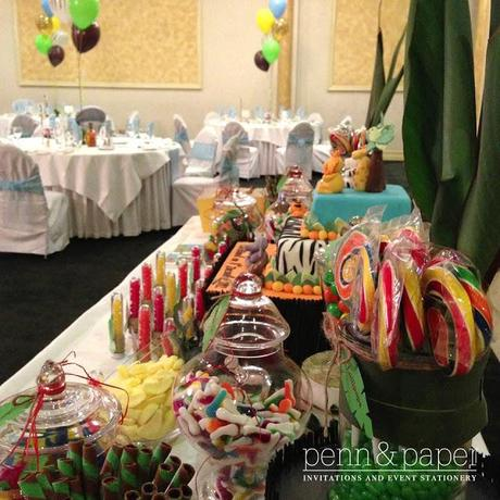Jungle Themed Christening by Penn and Paper