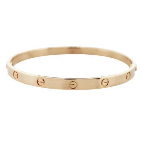 Rose gold cartier love bracelet size 21, cartier love bracelet, pre owned love bracelet