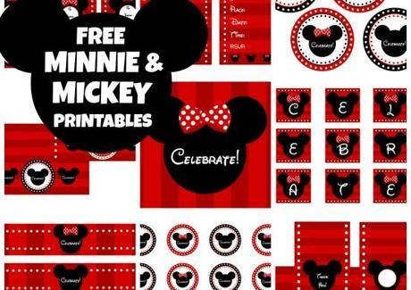 Free MICKEY & MINNIE MOUSE Party Printables