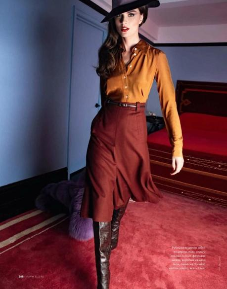 Anouck Lepère by Asa Tallgard for Elle Russia November 2011 5