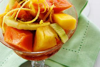 Tropical Fruit Salad with Thai Ginger Dressing - Paperblog