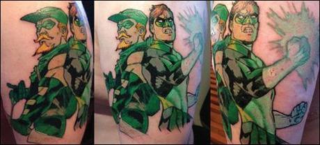 Green Lantern Green Arrow tattoo by Paul Abstruse
