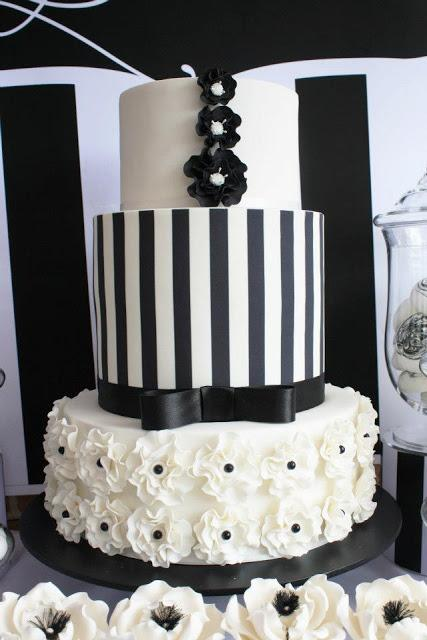 Black And White Chic Dessert Table By Life Is Sweet Candy