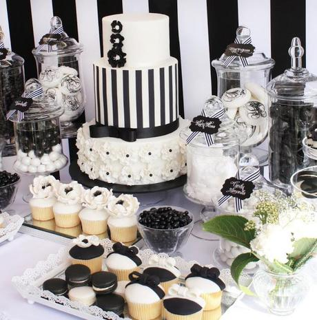 Pleasant Black And White Chic Dessert Table By Life Is Sweet Candy Download Free Architecture Designs Parabritishbridgeorg