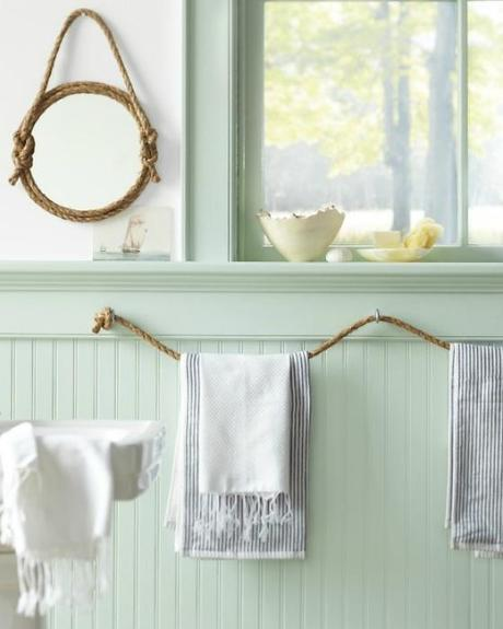 NookAndSea-Rope-Mirror-Bathroom-Striped-Towels-Mint-Green-Paint-Tranquil-Cottage-Airy