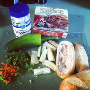 Banh Mi ingredients