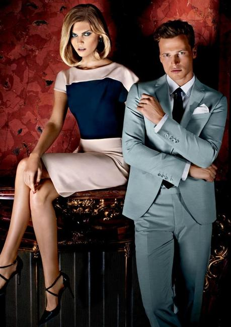 Maryna Linchuk and Lars Burmeister for Joop! Spring 2013 campaign 2