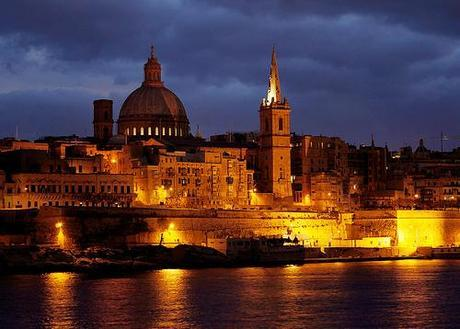Valletta under evening clouds