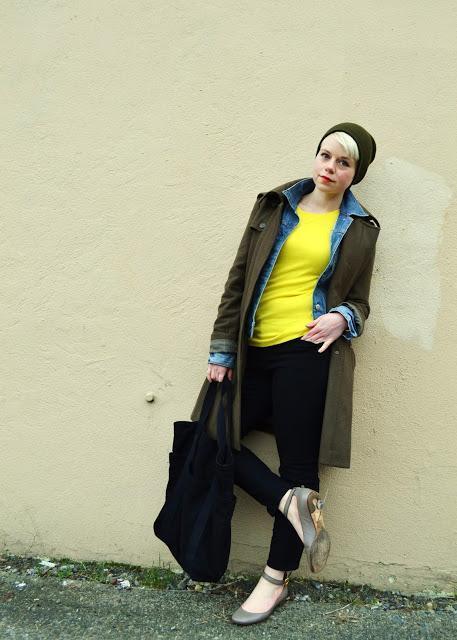 winter fashion, seattle, street style, denim jacket, fleur d'elise, chloe flats