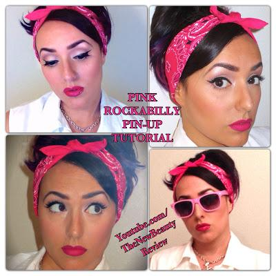 Pink Rockabilly Pin Up Makeup Tutorial Paperblog