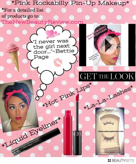 Pink Rockabilly Pin Up Makeup Tutorial