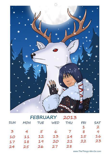 February 2013 free printable calendar