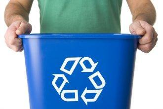 recycle bin blue
