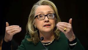 Secretary Hilary Clinton during the Benghazi hearings