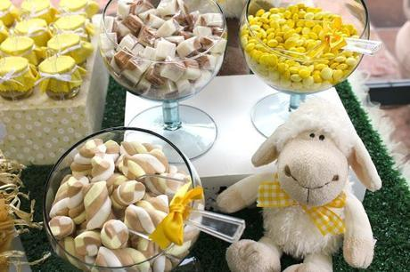 Sweet Little Sheep Themed Christening with pops of Yellow by Festa Com Gosto.