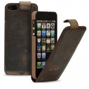 Blumax Antique G6 Flip Leather Case for iPhone 5 - Coffee