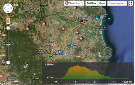 Our hot air balloon route over Costa Brava, Catalunya, Spain