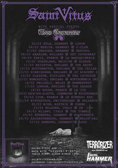 Mos Generator and Saint Vitus Announce European Tour Dates
