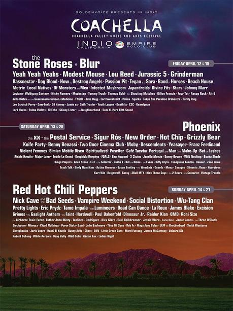 COACHELLA LINEUP ANNOUNCED AND ITS AMAZING