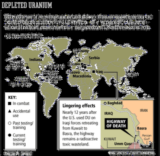 Depleted Uranium: Radioactive poison of the future war.