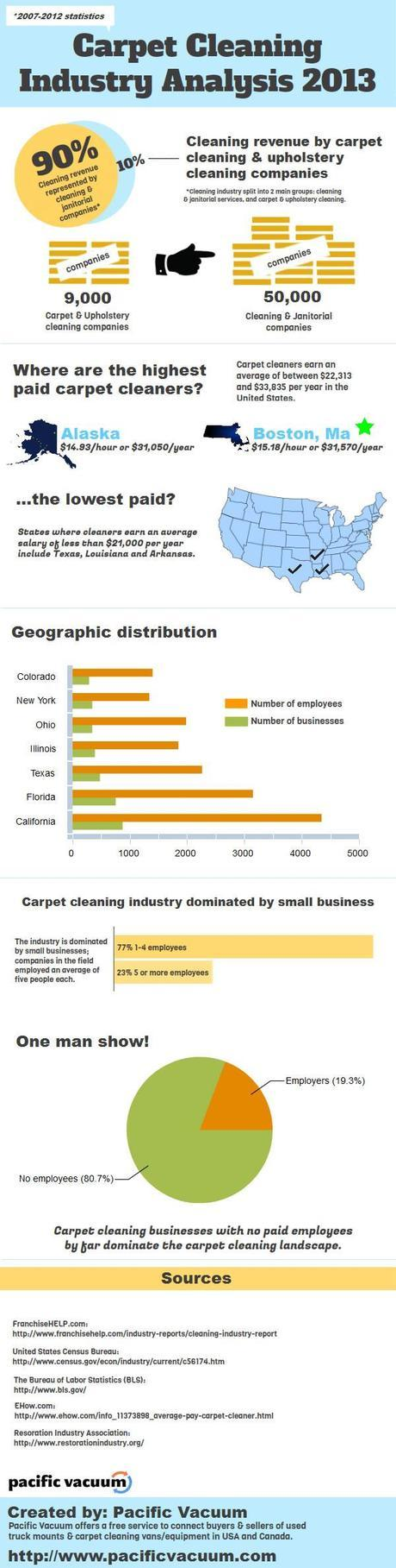 Carpet Cleaning Industry Analysis Infographic