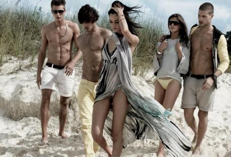 Alejandro Alonso and Camila Queiroz for Armani Exchange Spring 2013 Campaign  2