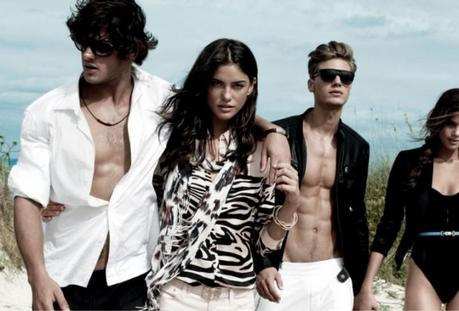 Alejandro Alonso and Camila Queiroz for Armani Exchange Spring 2013 Campaign
