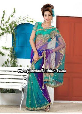 Heavy Stone Beads Embroidered Bridal Saree Collection