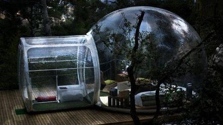 weird hotels bubble hotel