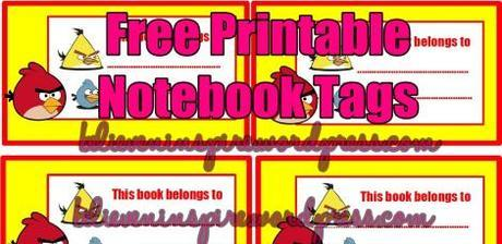 angry birds free printable notebook tags