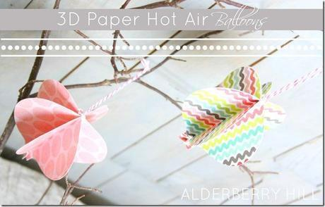 3D Paper Hot Air Balloons thumb 3D Paper Hot Air Balloons