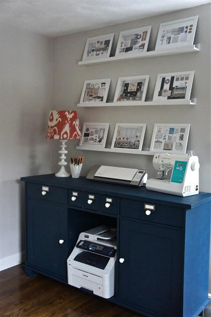 Feature Friday: An Unbelievable Navy Blue & Coral Office Transformation