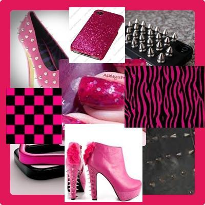 hotpink and black inspiration
