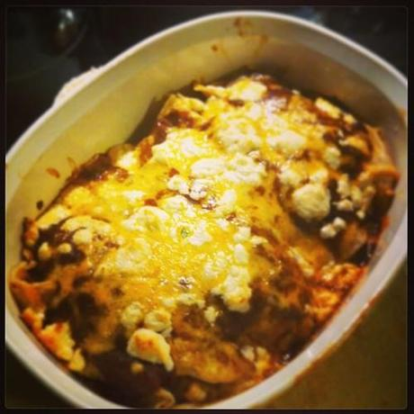 Pork Enchiladas with #homemade sauce. #food #nomnom...