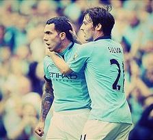 Carlos Tevez & David Silva - Manchester City