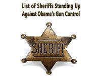 List Of 90 Sheriffs By Name and Two Sheriff's Associations Vowing To Ignore Obama Gun Control