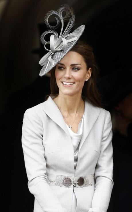 Kate Middleton White Hat