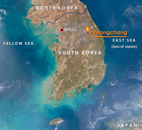A Look At Pyeongchang Home Of The 2018 Winter Olympics 416792 on north korea map location