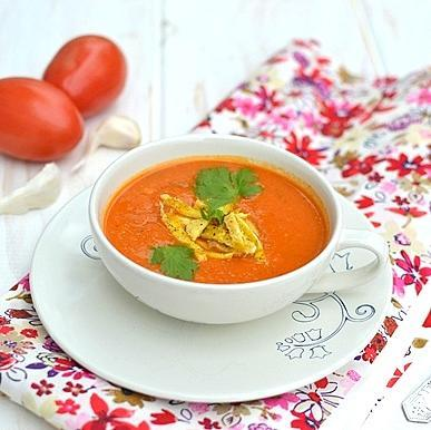 Creamy Tomato Soup with Egg Noodles