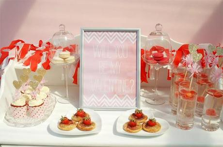 Will You be my Valentine? Dessert Table by Dandy & Darling