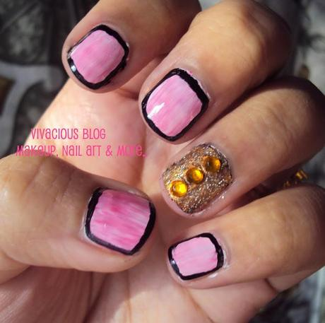 Retro Look Of Nails : Glam Nail Art