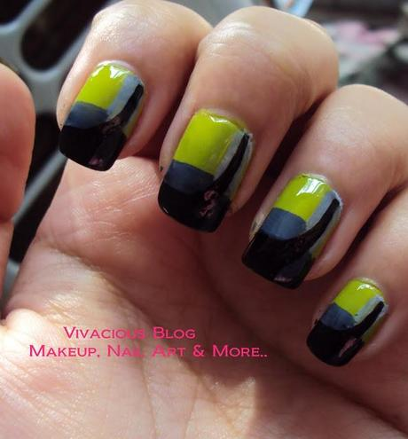 Jessica Lowndes Neon Green Dress Inspired Nail Art