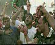 Arabs waving entrails of butchered Israelis in Ramallah