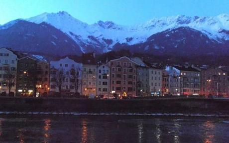 Is there anything more romantic than historic buildings sandwiched between a river and mountains in Innsbruck, Austria?