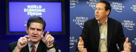 Ernst & Young Chairman and Chief Executive Officer James Turley speaks during a session at the World Economic Forum in Davos